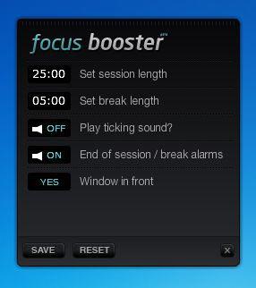 скриншот с настройками Фокус Бустера