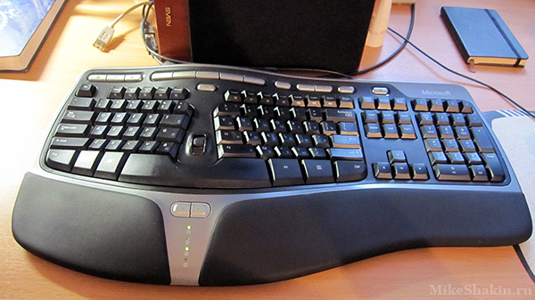 эргономичная клавиатура Microsoft Natural Ergonomic Keyboard 4000